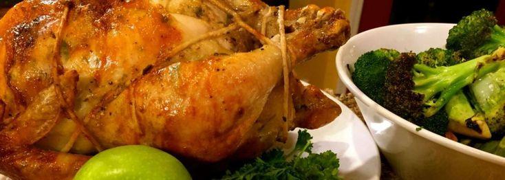 Garlic Parmesan Homemade Rotisserie Chicken