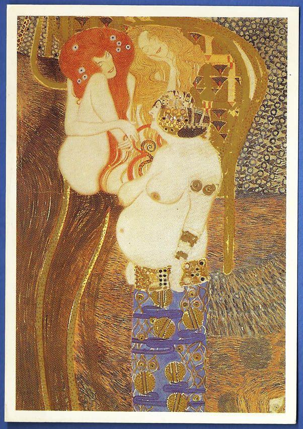 """86: """"GUSTAV KLIMT. Le Frise Beethoven, Les Puissances Ennemies - 1902"""""""