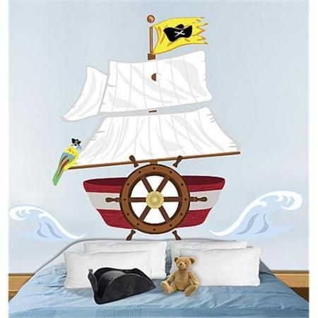 Wallies Pirate Headboard Peel And Stick Wall Sticker Mural Decal Designs At Wall Sticker Outlet