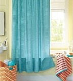 reese's bath...French Dot Shower Curtain - Garnet Hill - eclectic - shower curtains - - by Garnet Hill