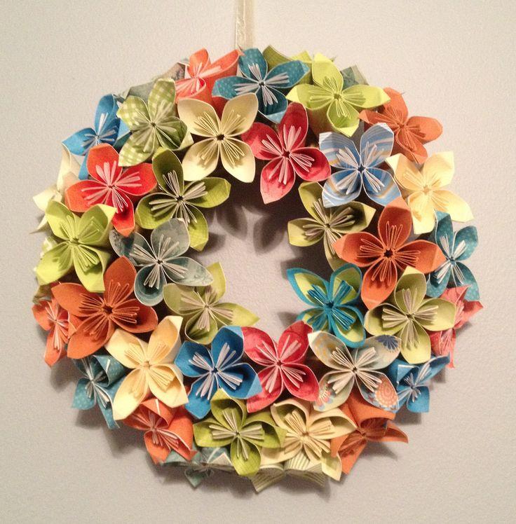 How to Fold Cute DIY Kusudama Paper Craft Flower