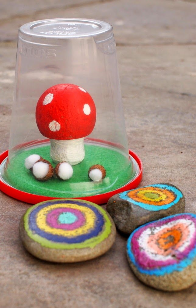 how to make mushroom craft