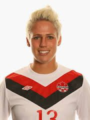 Sophie Schmidt. Being a ex player it's always been hard for me to watch women's football. However for the first time in many years i watched some of the world cup and i was really impressed with Sophie's work rate and passing skills!