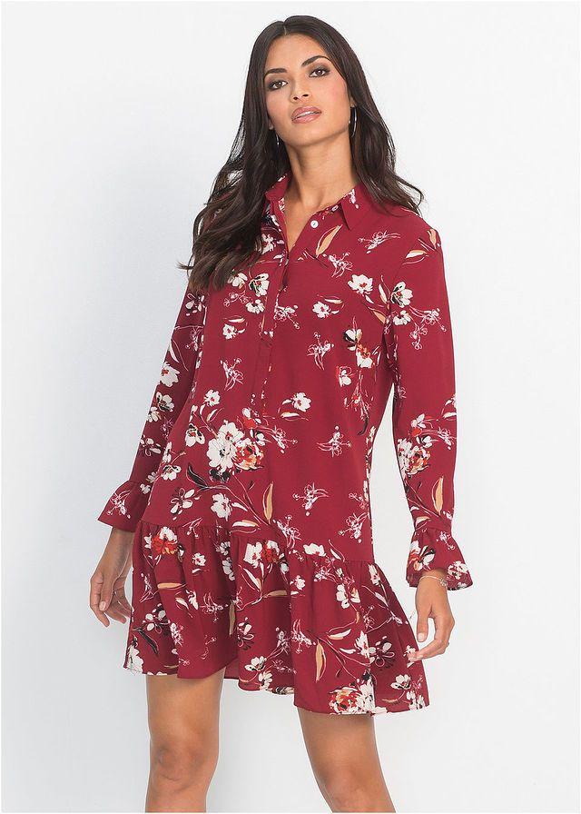 Madison Jesienna Sukienka W Kwiaty