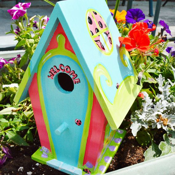 Re-pin it to win it!  Win a Hand Painted Bird House of your choice at The Funky Monkey! #Giveaway ends 3/4/15.