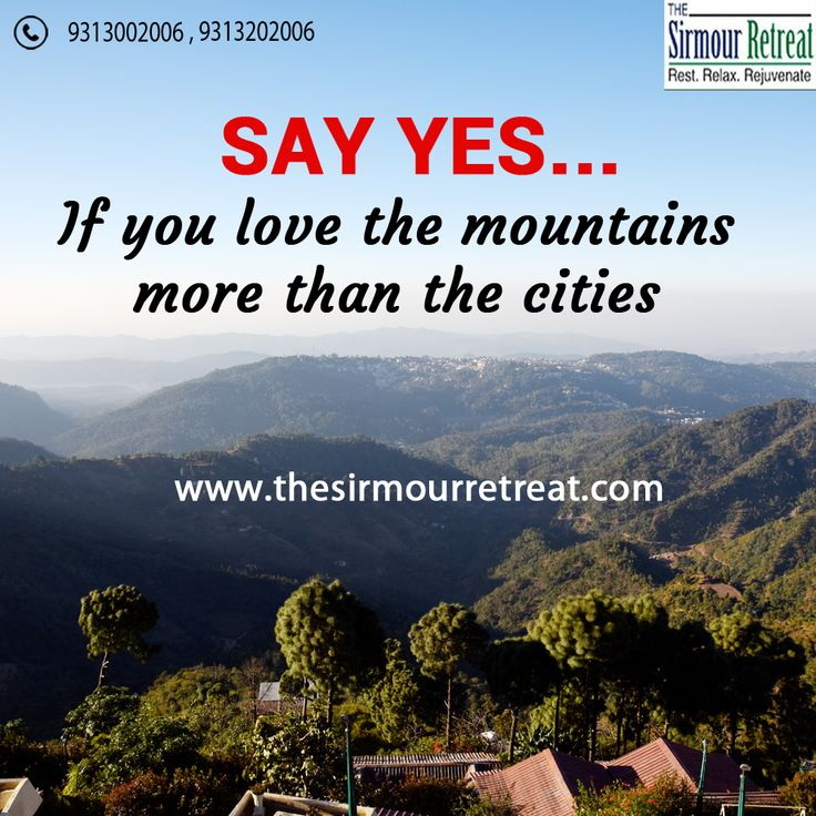 Great things are done when men and #Mountains meet.🏔️ Visit The Sirmour Retreat which is one of the best #Resort in #HimachalPradesh which provides all facilities and comfort. Visit: https://goo.gl/rVWSUd