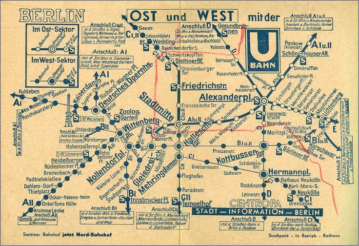 NETZPLAN U-BAHN | BERLIN - Anfang der 50er Jahre