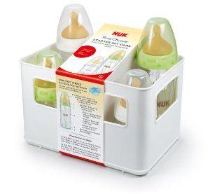 NUK 10225099 First Choice Starter Set Glas mit 4 Anti-Colic Babyflaschen, 2 x 120 und 2 x 240 ml, inklusiv Latexsaugern und Flaschenbox: Nuk: Amazon.de: Baby