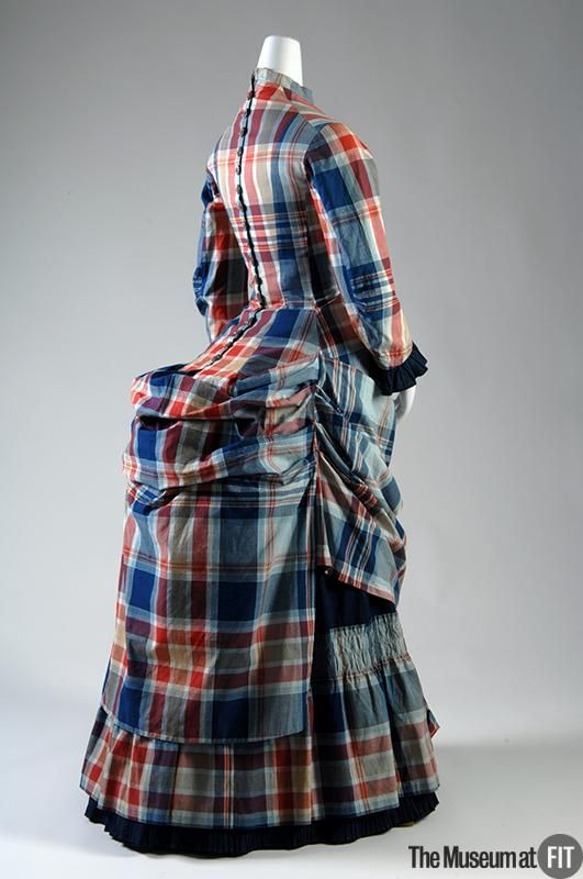 Plaid Dress, circa 1880 (back view) | Museum at FIT