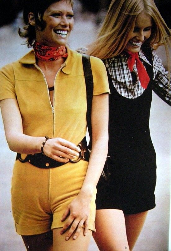 hot pants  start of very short pants in the 1970s  it focused on the female figure and curves