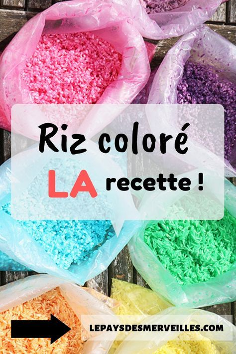 Riz coloré recette facile et rapide   Riz coloré, Jouet à
