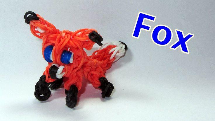 Rainbow Loom: FOX Charm: How To Design / Tutorial (DIY Mommy) (+playlist)