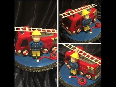 How to make FIREMAN SAM FIRE TRUCK CAKE / Cake Decoration / Cake Tutorial / Vatrogasni Kamion Torta - YouTube