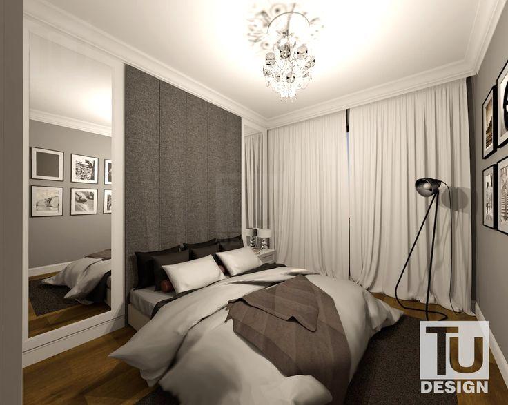 10,8 m 2 … właśnie taką powierzchnię ma sypialnia na Warszawskim Gocławiu. Aranżacja powstała w oparciu o to, co tam zastaliśmy - piękne gzymsy i szare ściany ❤ Miała panować prostota, harmonia oraz elegancja. Jednym słowem oaza spokoju dla Inwestorów.