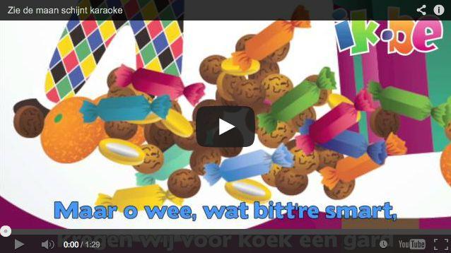 Sinterklaasliedjes - Zie de maan schijnt door de bomen (karaokeliedje)