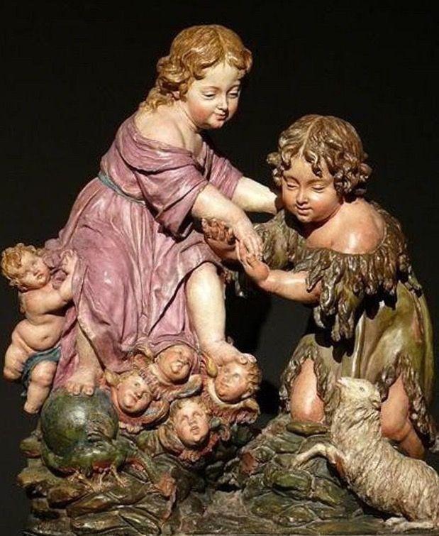Antigua talla de Jesús y Juanillo