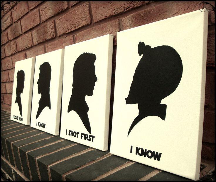 Brilliant!  Han Shot First - Victorian Silhouette Stencil Art by RAMART79.deviantart.com on @deviantART