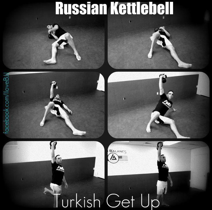 Russian Kettlebell Turkish Get up Exercises - nice to see some 'real' russian kettlebell exercises @Jodi Wissing Tamminga