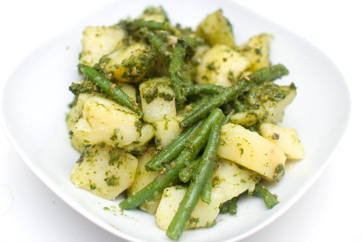 Fransk potetsalat med pesto