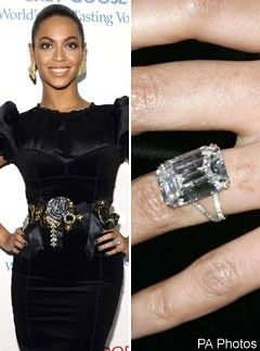 Beyonce, Celebrity Engagement Rings, celebrity photos, Marie Claire