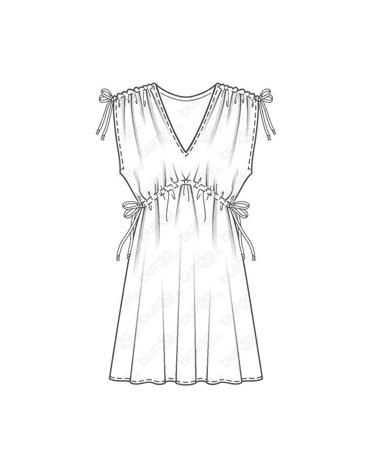 burda style, Schnittmuster, Kleid 02/2017 #107B, Eventuell schon den nächsten U… – burda style