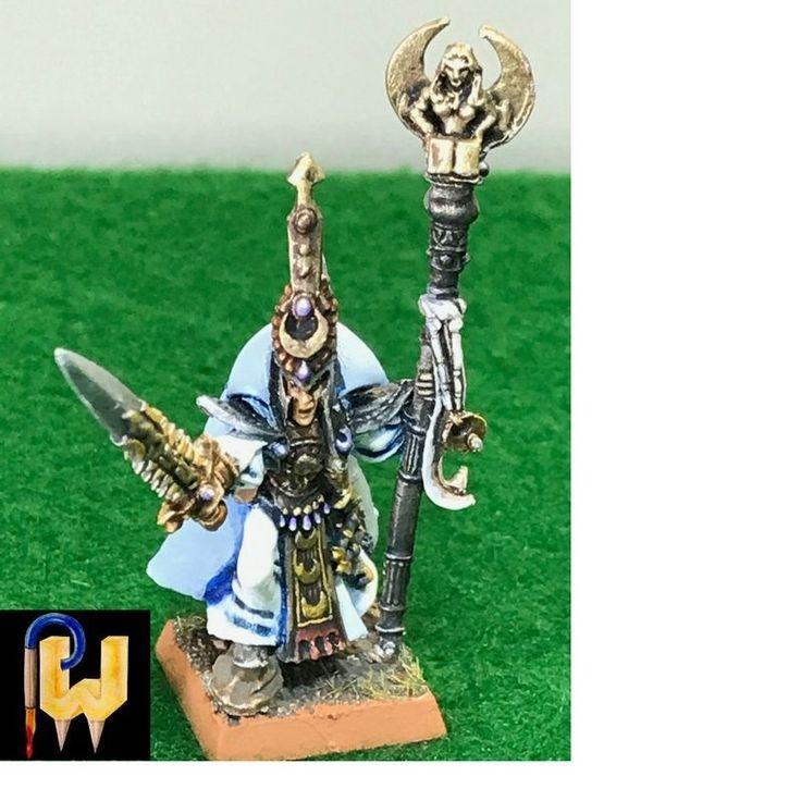 Warhammer Army High Elf AOS Eldritch Council Teclis Metal Painted
