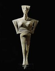 Figurine of a woman, from Syros (Cyclades), Greece