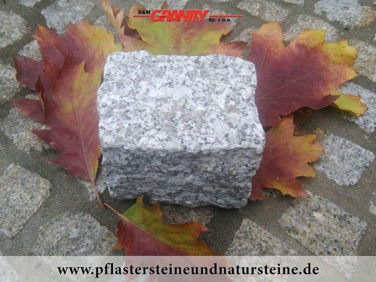 """B&M GRANITY - Winter-Rabatt - frostbeständige, polnische Pflastersteine aus Granit (grau, gespalten, """"Salz und Pfeffer"""") , Granit-Pflastersteine http://www.pflastersteineundnatursteine.de/fotogalerie/pflastersteine/"""