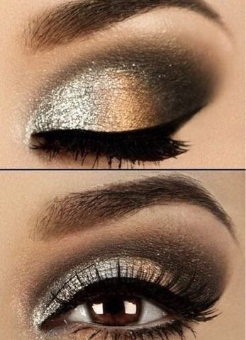 Aneesa's life!: How to get glittery holiday eye makeup look!