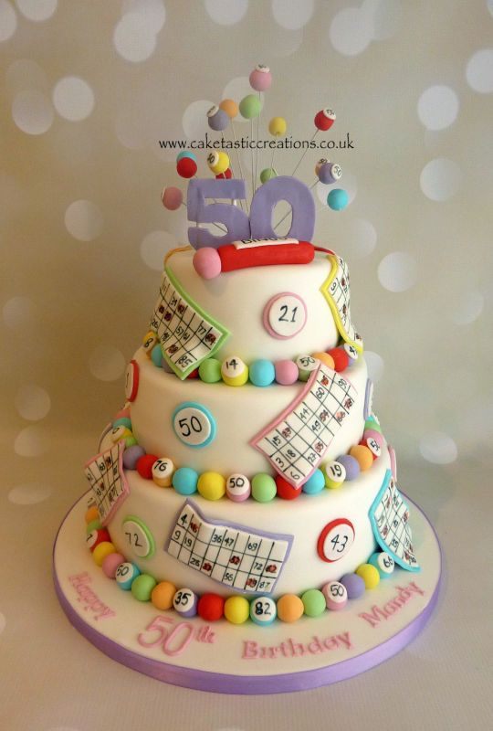 Bingo themed Birthday Cake - For all your cake decorating supplies, please visit craftcompany.co.uk