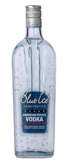 Blue Ice one of several potato Vodka brands.  This one is made in the USA.