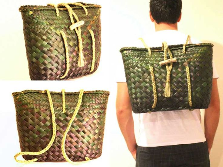 Kete Backpack/ Pikau Unisex - KBP0013 - FLAX KETE by Eve.