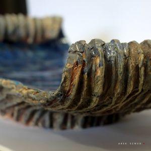 Niebieska patera, ceramiczna patera wykonana ręcznie Arek Szwed