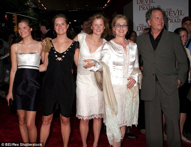 Family affair: Louisa, Grace, and Mamie Gummer (from left to right) joined their parents a...