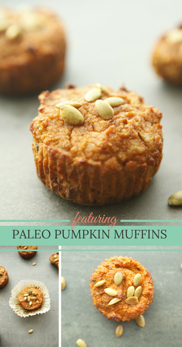 Gluten free, low carb PUMPKIN MUFFINS from paleontastic.com are great for healthy, low carb breakfast or snack.