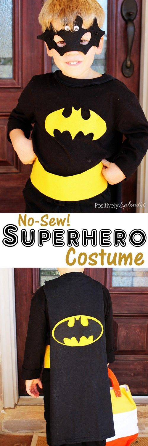 A tutorial for how to create a no-sew superhero cape for kids using an old t-shirt.