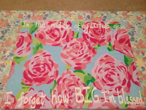 """""""In the middle of my LITTLE mess, I WON'T forget how BIG i'm blessed."""" Big/Little gift!!"""