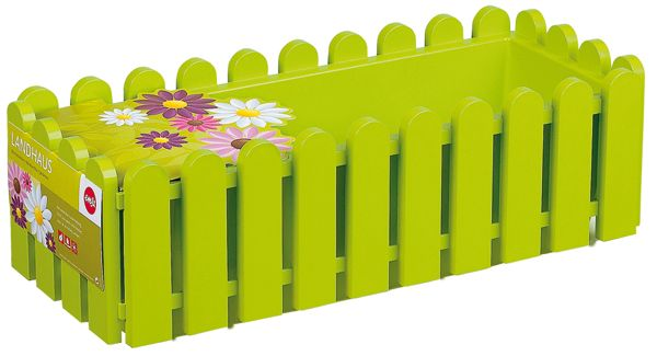Jardinera verde suelo 50x20x16cm Emsa #decoracion #jardin