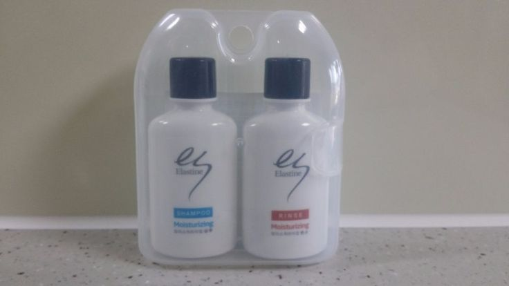 Korean Elastine MOISTURIZING Shampoo & Conditioner 50ml + 50ml Travel Case set #Elastine