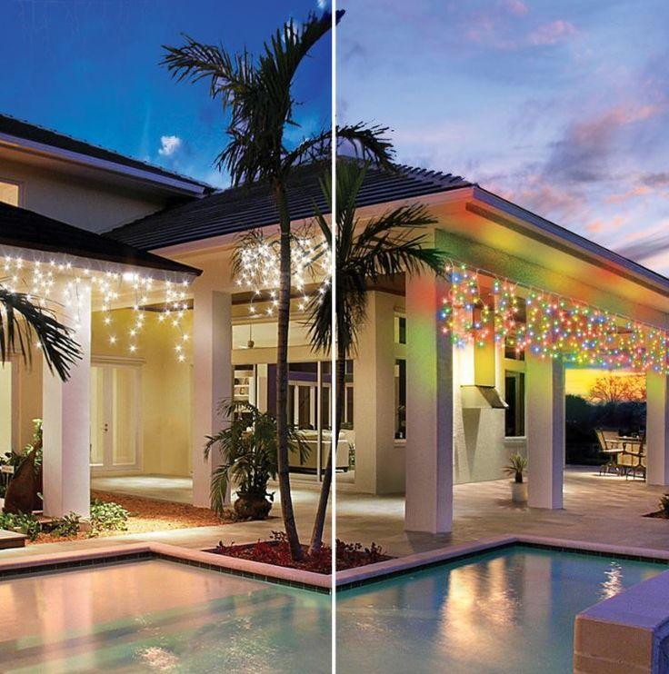 White lights vs Coloured lights #festiveoutdoors