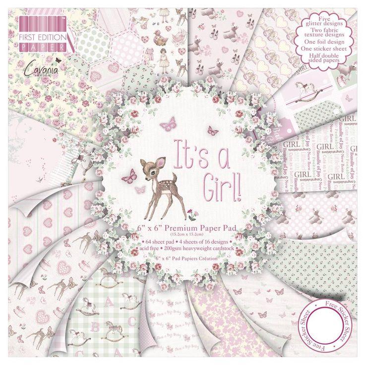 Rezultat iskanja slik za Set papirjev Its a girl,15x15 cm, 64 lis