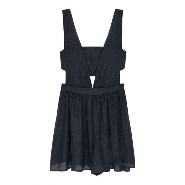 Black Dressy Romper - Black Playsuit - ($55) ❤ liked on Polyvore featuring jumpsuits, rompers, dresses, playsuit, jumpsuit, black dressy romper, fancy jumpsuits, black jump suit, dressy jumpsuits and black rompers