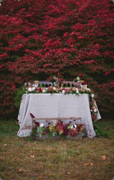 botanical brouhaha: Sweetheart Table Designs