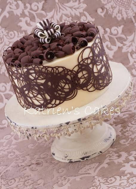 Cake Decorating Using Melted Chocolate. : cake chocolate decoration ideas - www.pureclipart.com
