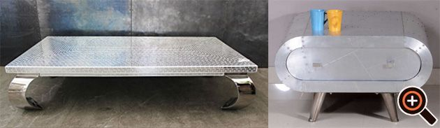 Nauhuricom  Couchtisch Oval Glas Metall ~ Neuesten