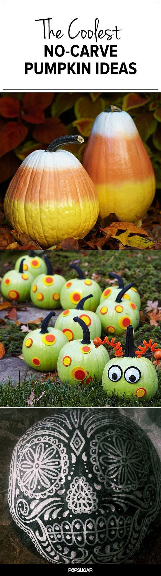 And fashion magic halloween pumpkins carving and decorating ideas - 20 No Carve Pumpkin Ideas Perfect For Kids