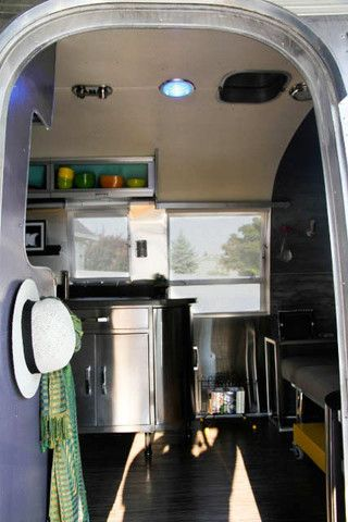 Blue Doorlenz installed in Airstream – Craft-Modern