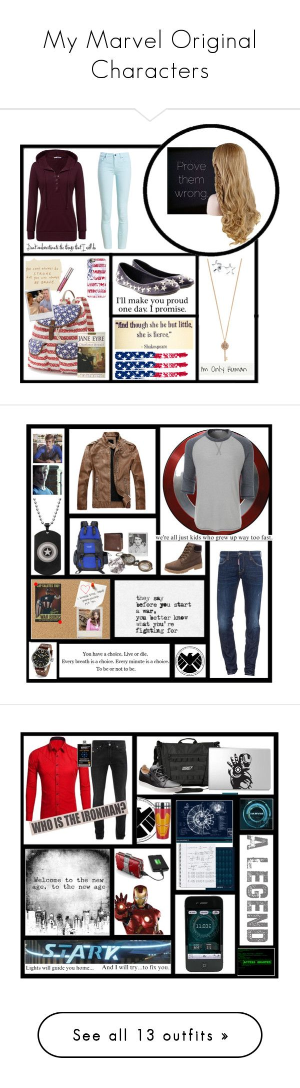 """My Marvel Original Characters"" by capfan2014 on Polyvore featuring Barbour, Jimmy Choo, Candie's, Casetify, Aéropostale, Bling Jewelry, GET LOST, By Terry, CaptainAmerica and steveandcassie"