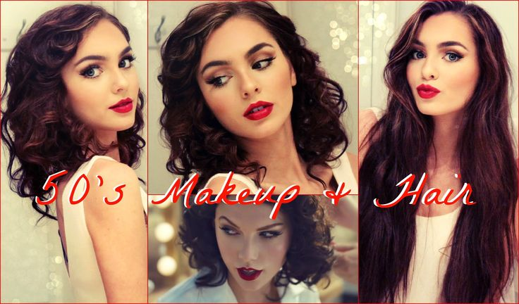 50's Makeup & Faux Curly Bob for Long Hair Tutorial! Jackie Wyers