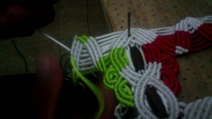 como tejer sandalia macrame cerrada 9 de 12